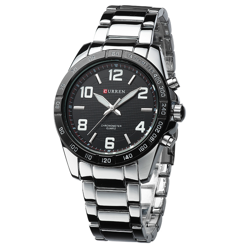 Curren Luxury Brand Silver Stainless Full Steel Strap Male Clock Quartz Watch Casual Watch Men Wristwatch relogio masculino 8107 original curren luxury brand stainless steel strap analog date men s quartz watch casual watch men wristwatch relogio masculino