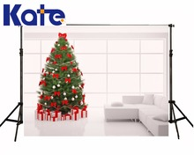 photography background christmas Indoor sofa Christmas tree 5x7ft(1.5×2.2m) Background ZJ