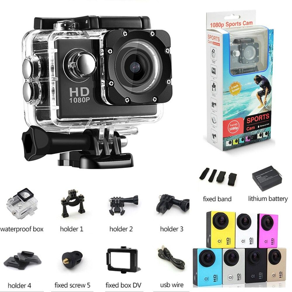 2018 action camera Sport camara deportiv Diving Waterproof 1080P Full HD Go Pro Underwater Helmet Sport DV 12MP Photo Pixel Cam