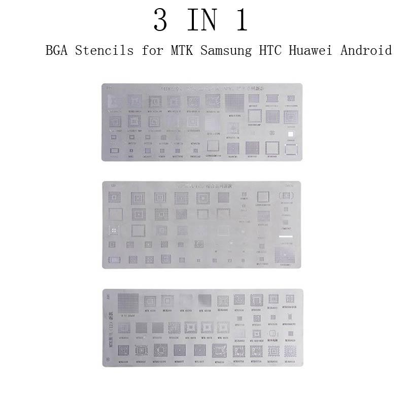 14 Stücke BGA Reballing Schablone Dedicate Kit Solder Vorlage für iPhone iPad DE
