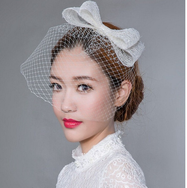 2016 Hot black Fashion nupcial da noiva cocar chapéu escondido Transporte Rápido casamento do vintage