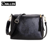 2016 New Fashion Women Tassel PU Leather Bag Female Luxury Messenger Shoulder Bags Women's handbags Designer Famosu Brand Clutch