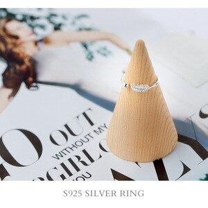 RYOUCUTE 100% Настоящее серебро цвет ювелирные изделия мода перо шар бусы кольца для женщин Bijoux заявление антикварное кольцо Anillos