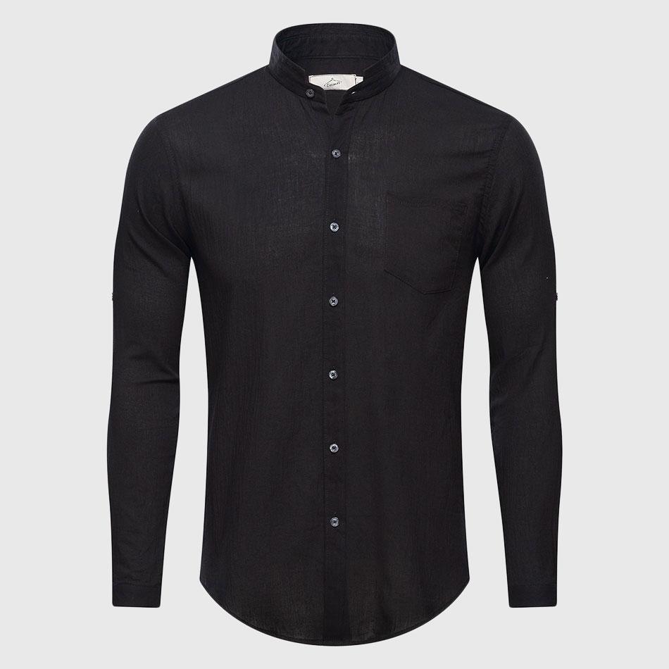 Grandad Collar Shirt Mens