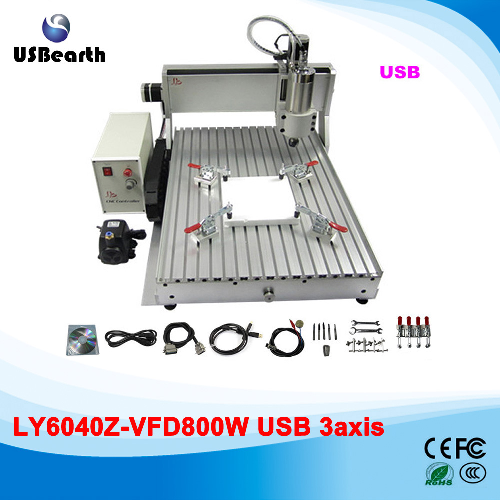 USB CNC machinery 6040 800w CNC engraver metal lathe for aluminum wood, no tax to Russia no tax to russia miniature precision bench drill tapping tooth machine er11 cnc machinery
