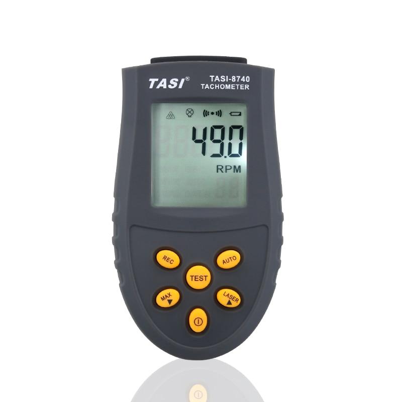 LCD Tachometer Digital Laser Tachometer TASI-8740 2.5RPM~99,999RPM Digital Tachometer LCD photoelectric Tachometer Test Meter dt2236c speed detector meter laser tachometer dt 2236c led digital optical contact tachometer detector meter