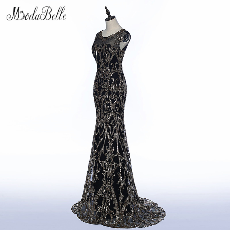 5c0e139f2e411 US $133.5 25% OFF|modabelle Black Gold Evening Dress Mermaid 2018 Elegant  African Trumpet Style Long Sequin Party Prom Gowns Robe De Soiree-in  Evening ...