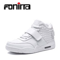 FONIRRA Fashion Early Winnter Men Shoes High Top Casual Shoes Red Bottom Suede Leather Men Breathable Big Size For Men 39 46 735