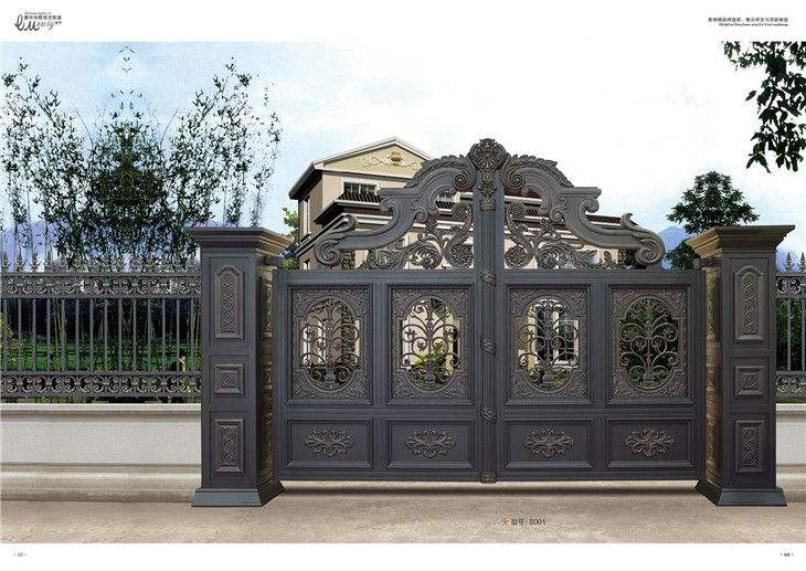 Home Aluminium Gate Design / Steel Sliding Gate / Aluminum Fence Gate Designs Hc-ag27