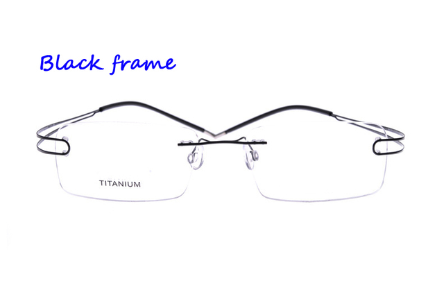 142d7193293 Highest Quality Lightest Design Brand Rimless Non-screw Foldable Leg Pure  Titanium Optical Eyeglasses Frame Prescription Glasses