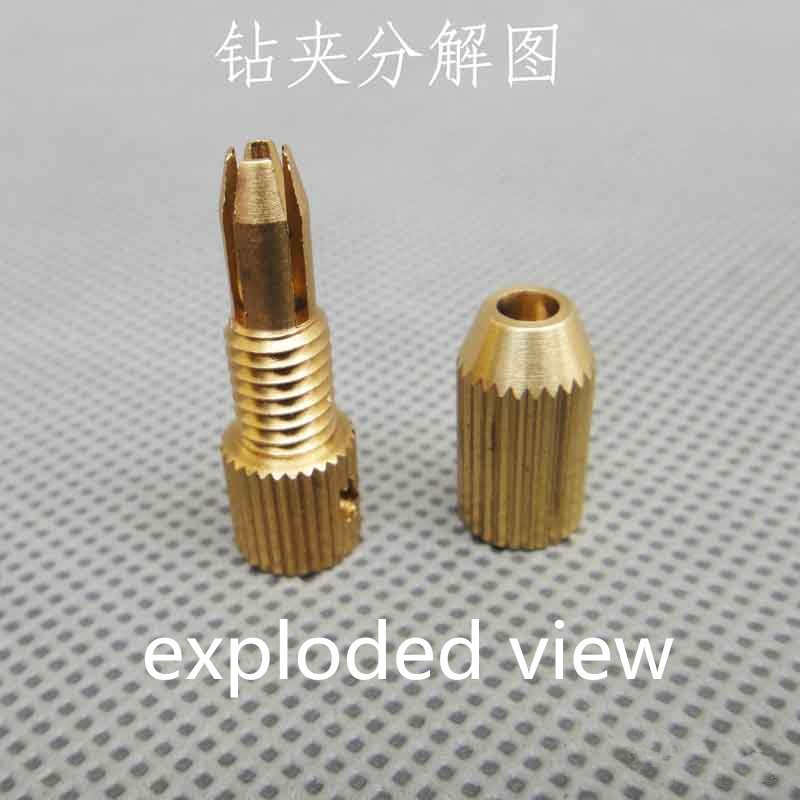 2017 J368b Brass Drill Clamp Mini Hand-boring Parts Twist Drill Chuck Clamp Tools Micro Motor Drill Tools Sell at a Loss France 2 3mm mini drill chuck collet clamp adapter bit socket set micro brass drilling cartridge power tools for woodworking