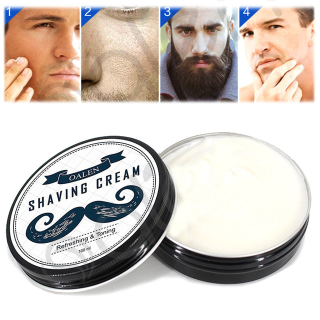 1Pcs Shaving Cream Trimmer Deluxe Men's Round Facial Goat Milk Beard Shaving Cream Barbering Shave Razor Shaving Soap Removal