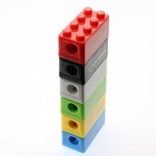 6 шт креативные милые Мультяшные игрушки строительные блоки пластиковые точилки для карандашей детские Студенческие подарочные канцелярские принадлежности(случайный цвет