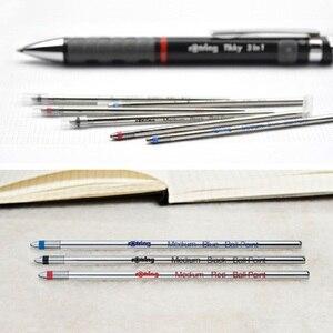 Image 2 - Klasyczne niemcy oryginalny rotring długopis refill wielofunkcyjny długopis wkłady niebieski czarny czerwony 5 sztuk/partia