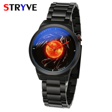 Fashion Creative Watch Unique Dial Black Full Steel Watch For Men Waterproof Clock Stryve Brand Mens Luxury Quartz Wristwatches luxury brand switzerland binger tungsten steel men s watch quartz watch beer barrel full steel wristwatches bg 0394 5
