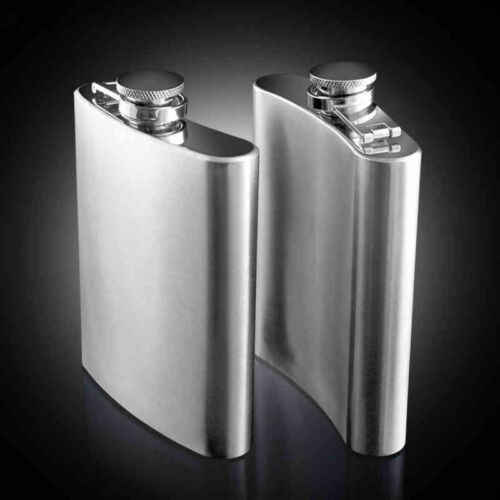 Stainless Steel Hip Flask Liquor Whiskey Alcohol Pocket Wine Bottle 7 8 10 oz