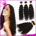 Barato peruano onda profunda feixes de cabelo 6a grau peruano profundo onda do cabelo virgem encaracolado tecer 3 pçs/lote 100% não transformados mega cabelo