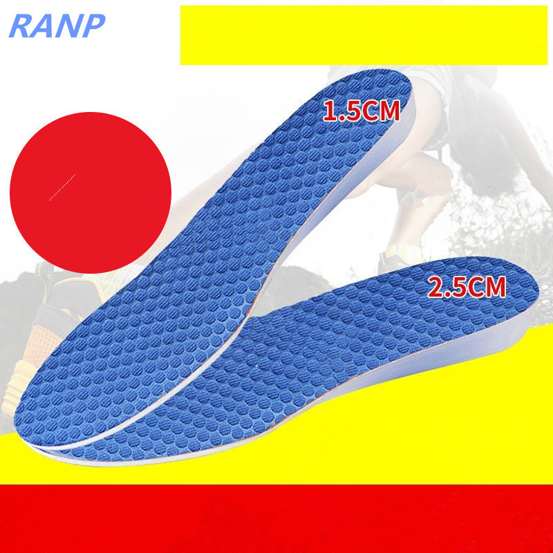 New Fashion Insoles Height Increase Orthopedic Shock Absorption Shoe Pad Insert Foot Care Shoe Accessory Arch Support Men Women 2017 breathable shoe pad shock absorption sport insoles orthopedic flat foot arch support insole cushion shoe accessories insert