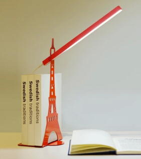 art of iron eiffel tower led table lamp for bed room office desk reading book lamp multicolors night light AC110/220V1786