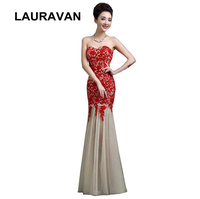 ladies long mermaid lace tulle bridal red floor length formal dress women bridesmaid dresses s new arrival 2018 free shipping