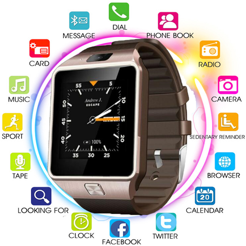 Original 3G WIFI QW09 Android montre intelligente 512 MB/4 GB Bluetooth 4.0 réel-podomètre carte SIM appel Anti-perte Smartwatch PK DZ09 GT08