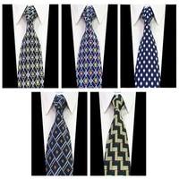 Fuerjia 5PCS/Set Men Jacquard Woven Super wide 10 cm Neckwear Necktie Groom Wedding Party Tie Wholesale