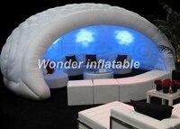 Горячая Распродажа коммерческий 5 светодио дный МВт гигантское светодиодное освещение надувной бар палатка надувной купол палатка для рек