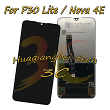 Huawei P30 라이트/노바 4E MAR LX1M MAR LX1J MAR AL00 MAR TL00 LCD 디스플레이 + 터치 스크린 디지타이저 어셈블리 + 프레임