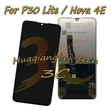 Orijinal Huawei P30 Lite / Nova 4E MAR LX1M MAR LX1J MAR AL00 MAR TL00 LCD ekran + dokunmatik ekran Digitizer meclisi + çerçeve