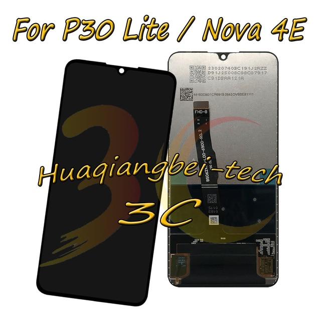 Oryginalny dla Huawei P30 Lite / Nova 4E MAR LX1M MAR LX1J MAR AL00 MAR TL00 wyświetlacz LCD + ekran dotykowy Digitizer zgromadzenie + rama
