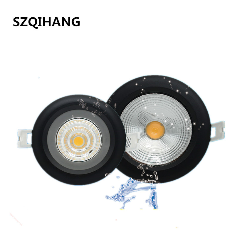 Waterproof COB LED Downlight IP65 Spot Light 20W/15W/12W/10W Super Bright 85-265V Recessed Ceiling Lamp+LED Driver