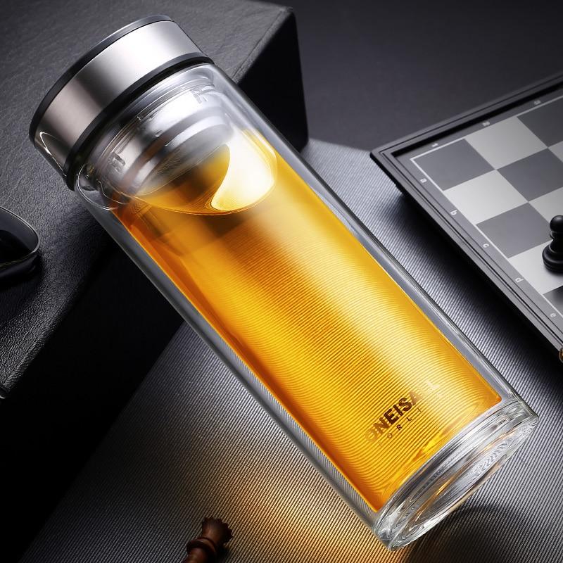 500 ml doppelwandiges glas wasser tee tasse saft kaffeebecher - Küche, Essen und Bar - Foto 3