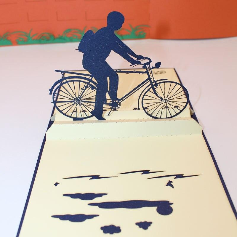 Велосипед открытка киригами