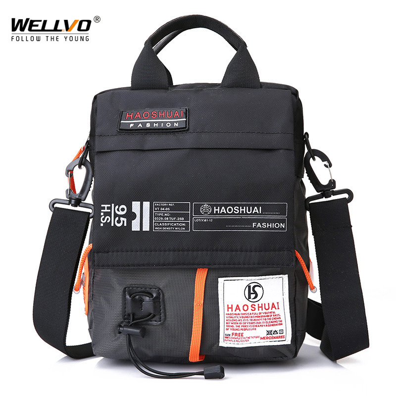 wellvo Men's Messenger Bag Male Waterproof Nylon Camouflage