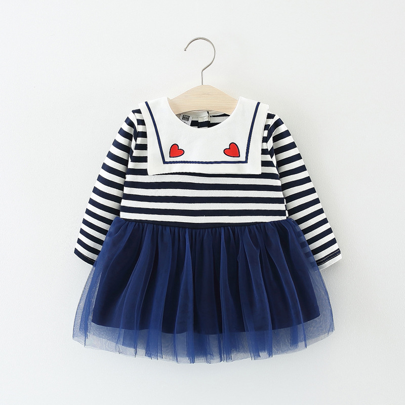 cute toddler <font><b>girl</b></font> striped <font><b>dress</b></font> <font><b>baby</b></font> <font><b>girl</b></font> tutu <font><b>dress</b></font> long sleeve party <font><b>dresses</b></font> autumn children <font><b>girls</b></font> clothes for 1 2 <font><b>3</b></font> <font><b>year</b></font> kids image