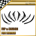 New Car Styling For 2009 Impreza 10 GR VRS Style Carbon Fiber Front Bumper Canard(4 pcs canard with 4 pcs fitting)