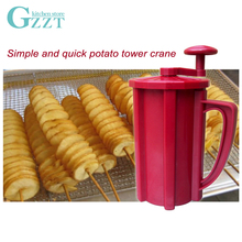 ABS Plastic + Stainless Steel Blade Manual Twisted Spiral Potato Cutter Potato Slicer Kitchen Tool Potato Cutting Machine цена и фото
