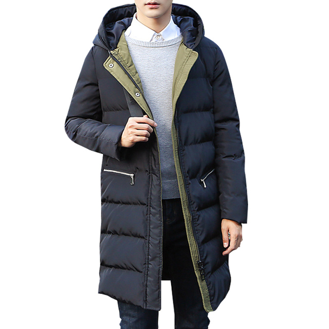Mantel parka pria