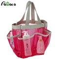 Портативная Сумка-тоут для быстрой сушки, подвесная сетчатая сумка для туалетных принадлежностей с 7 карманами, органайзер для ванных комна...