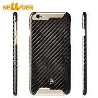 In Fibra di carbonio Casse Del Telefono Per iPhone 6 Più 6 s Più 6 più Caso Cell Phone Hard Back Shell NEWOER