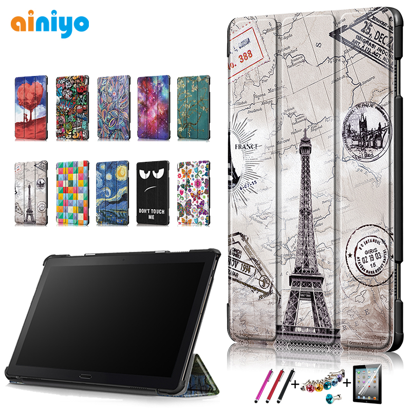 "Cover For Lenovo Tab P10 10.1"" Case 2018 TB-X705F TB-X705L Smart PU Leather Magnetic Stand PC Back For Lenovo Tab P10 Shell"