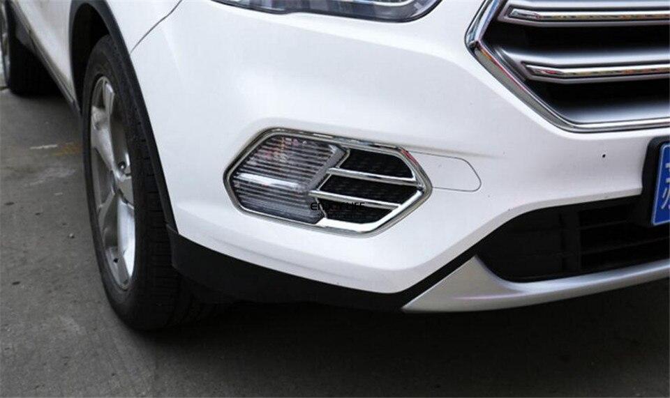 Cubierta de luz antiniebla delantera del coche ABS cromo 2pcs//set