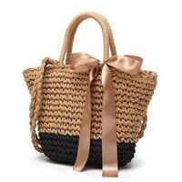 2017 Female Small Mini Cute Sweet Summer Beach Bag Handbag Shoulder messenger Woven Straw Bag Wholesale Fashion purse Bucket