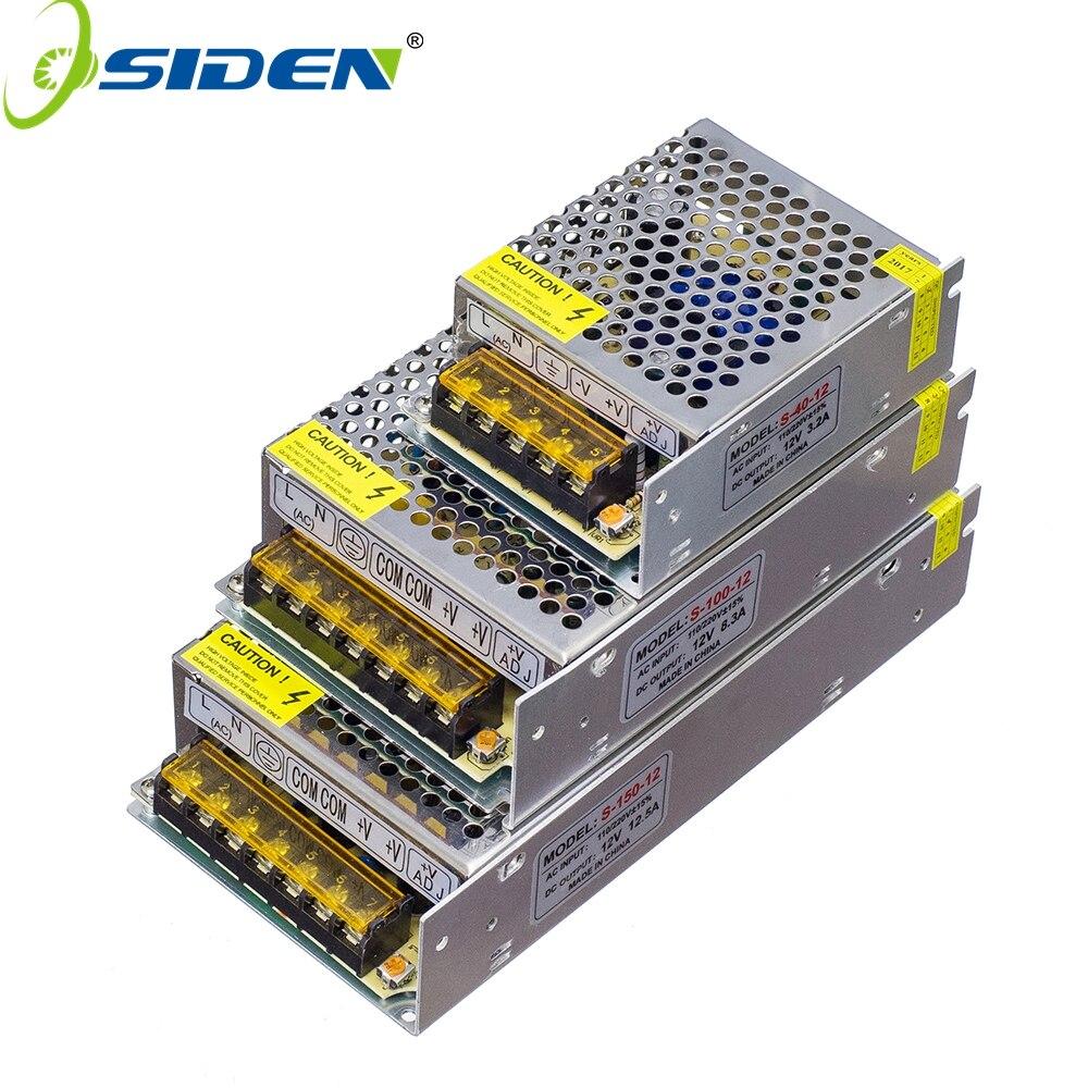 Купить на aliexpress 1 шт. Светодиодные ленты света Мощность Адаптер Питания SMD 5050 3528 1A 2A 3A 5A 8A 10A 12A 15A 20A 30A 40A AC 110 V-265 V постоянного тока до DC12V трансформаторы