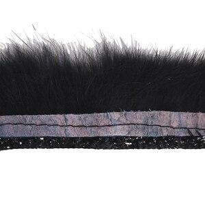 Image 3 - 10ヤード黒髪タッセルフリンジトリミング編組レース生地リボンモチーフアップリケ縫製アクセサリー用服T1757