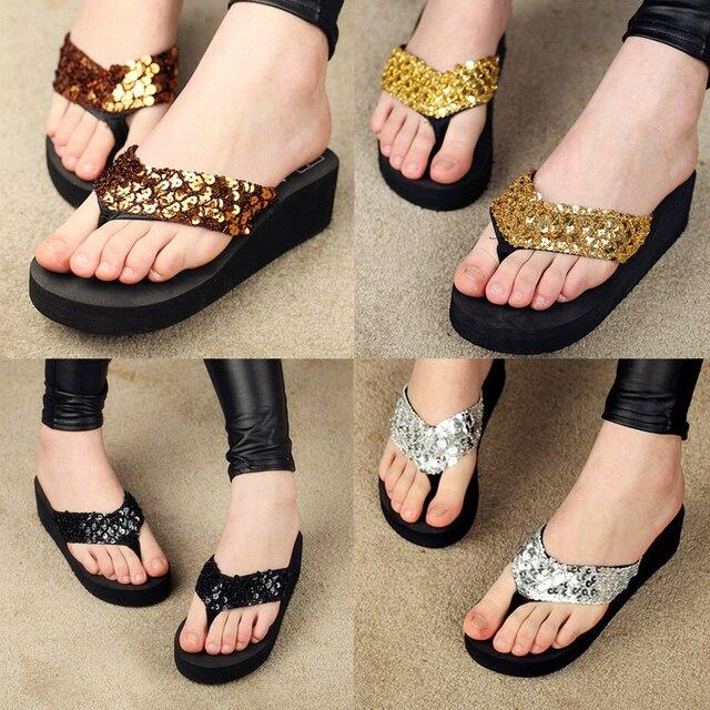 b62157d965c60 2015 summer fashion women sandal Beach home flip flops slippers female flat  sandals 5-9