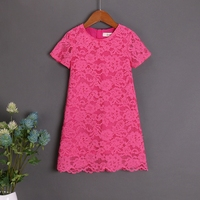 Summer Children Clothes Mom Baby Kids Girl Rose Lace Skirt Family Clothing Sets Mother Daughter Dress