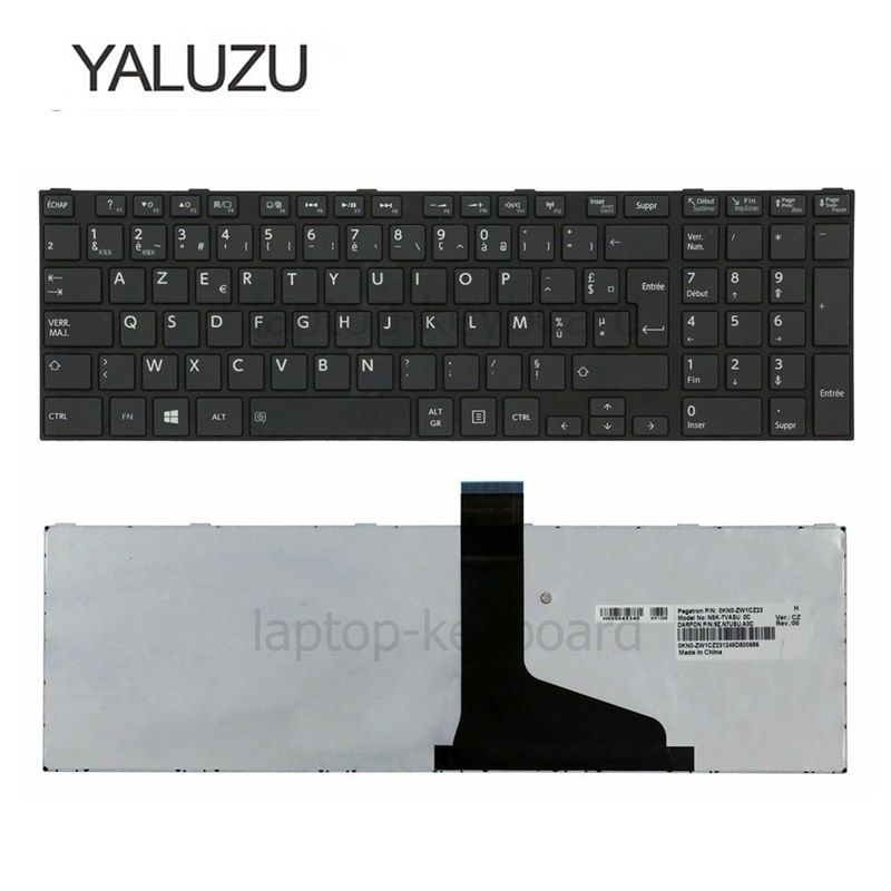 Image 3 - YALUZU French Keyboard for TOSHIBA SATELLITE C850 C855D C850D C855 C870 C870D C875 C875D L875 L875D AZERTY FR-in Replacement Keyboards from Computer & Office on
