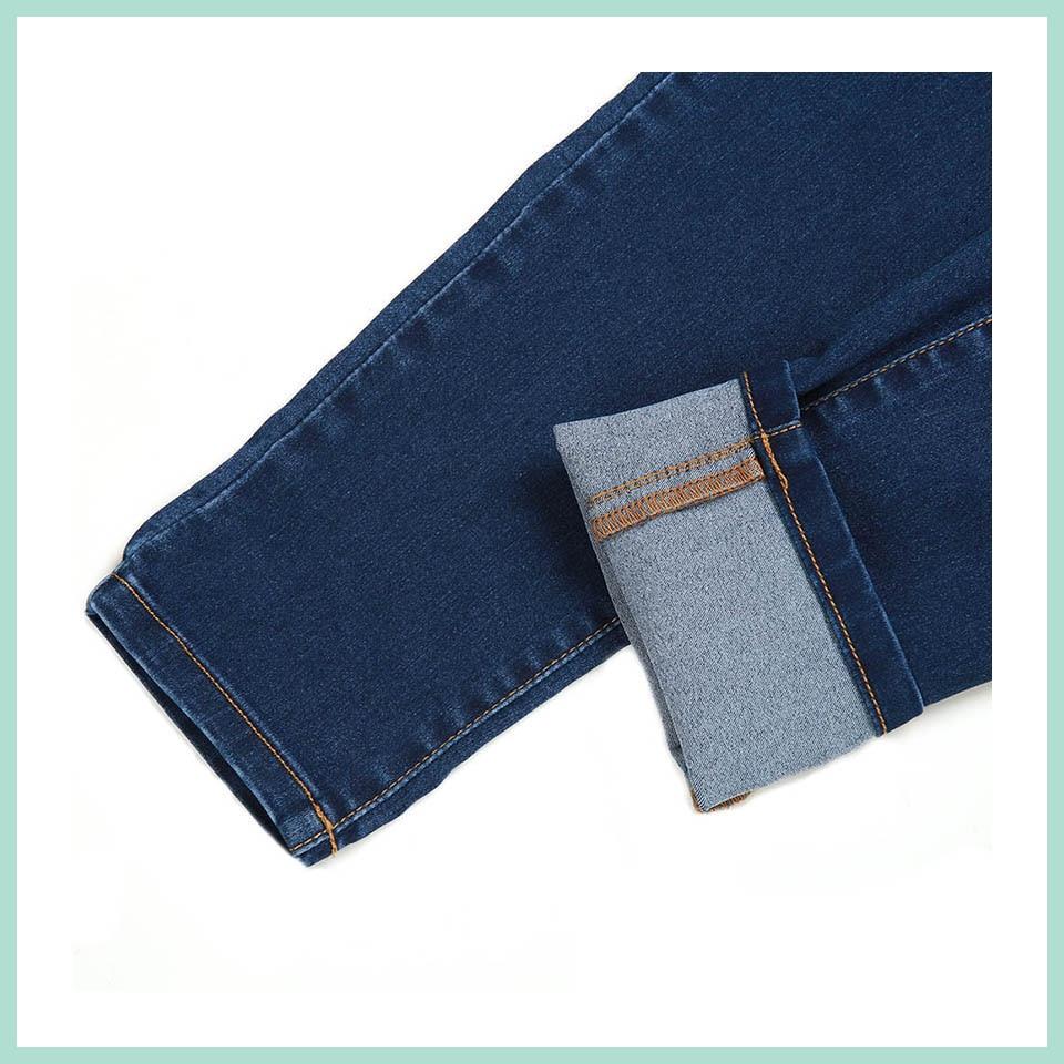 Autumn Winter minimalist Women Denim Skinny Legging Stretch Fake Front Pocket Medium Waist Washed Blue Slim Elastic Lady Jeans 19