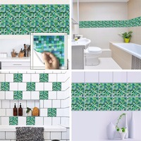 Yanqiao Mosaic Tiles Wall Sticker Waterproof Bathroom Kitchen Backsplash Removable Multi Color Choice 7.87x7.87 10 Pcs/set